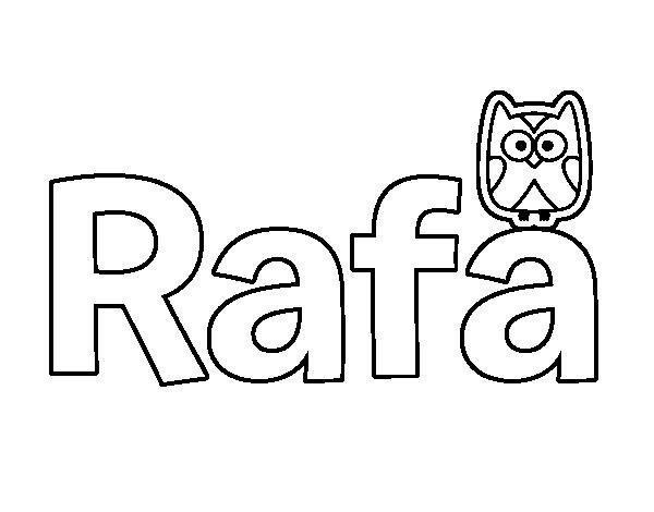 Dibujo De Rafa Para Colorear Dibujosnet