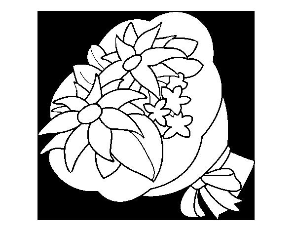 Dibujo de Ramo de crisantemos para Colorear - Dibujos.net