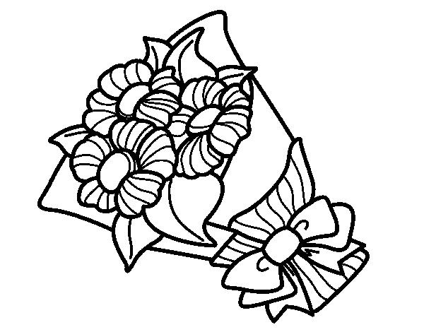 Dibujo de Ramo de margaritas para Colorear   Dibujos.net