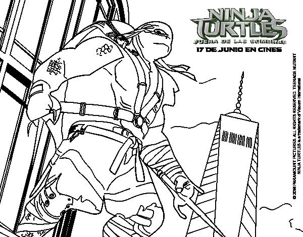 Dibujo de Raphael de Ninja Turtles para Colorear - Dibujos.net