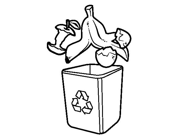Dibujo De Reciclaje Orgánico Para Colorear Dibujosnet