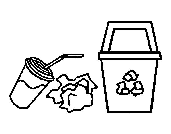 Dibujo De Reciclar Papel Para Colorear Dibujosnet