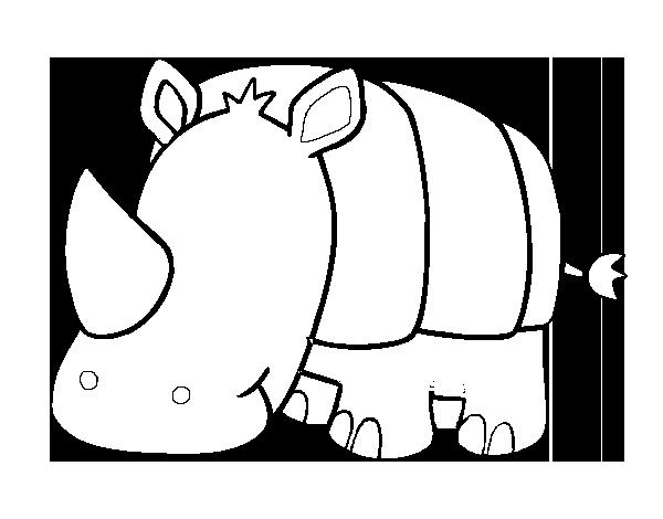 Dibujo De Rinoceronte Bebe Para Colorear Dibujos Net