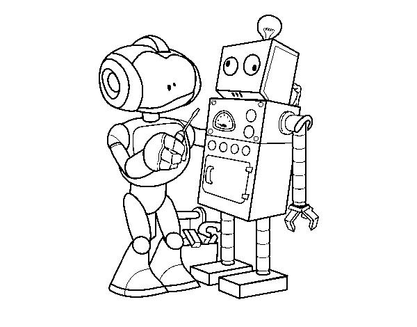 Dibujo De Robot Arreglando Robot Para Colorear Dibujosnet