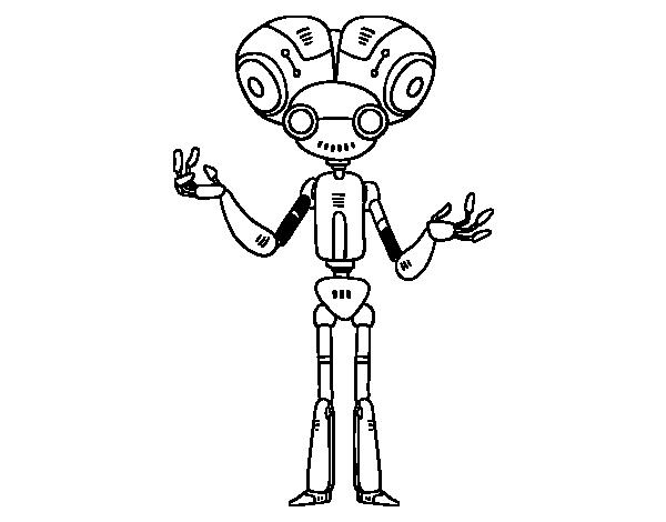 Dibujo De Robot Cabezón Para Colorear Dibujosnet