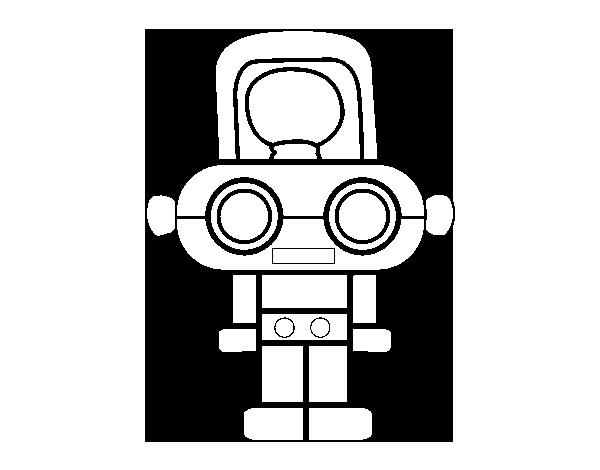 Dibujo de Robot con luz para Colorear - Dibujos.net