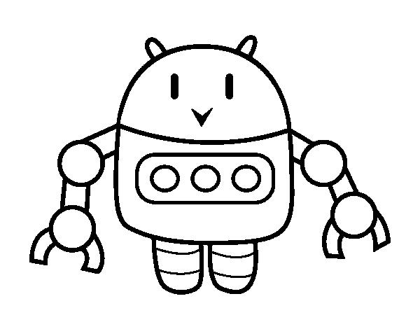 Dibujo De Robot Con Pinzas Para Colorear Dibujosnet