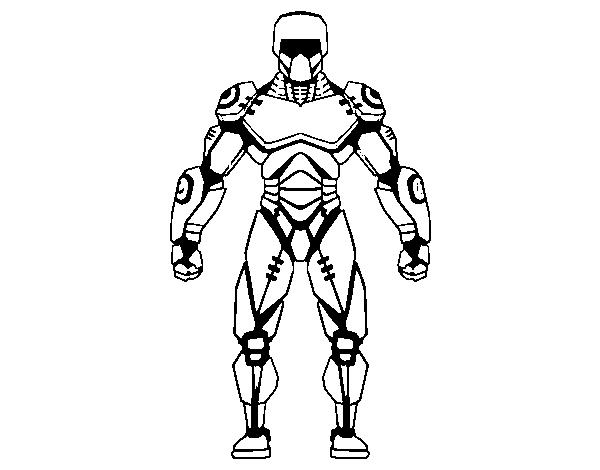 Dibujo de Robot de Cara para Colorear - Dibujos.net