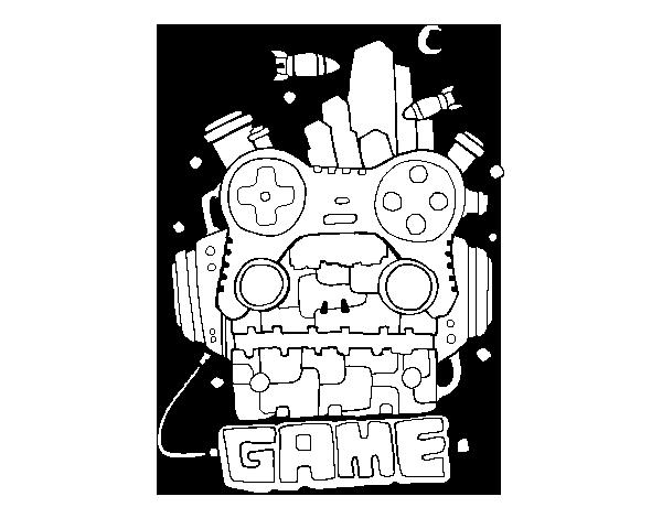 Game Para Colorear: Dibujo De Robot Game Para Colorear