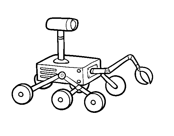 Dibujo de Robot lunar para Colorear - Dibujos.net