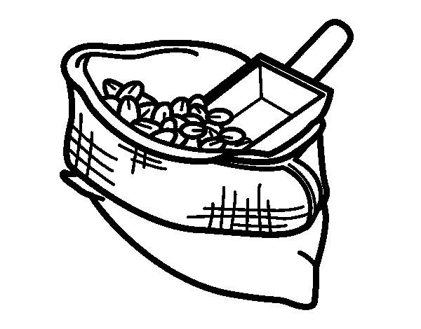 Dibujo De Saco De Café Para Colorear Dibujosnet