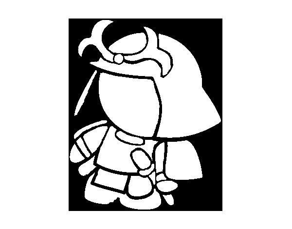 Dibujo de Samurái con armadura para Colorear - Dibujos.net
