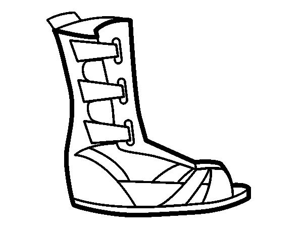 Sandalia Para Dibujo Romana Colorear De kZOPwXiTu