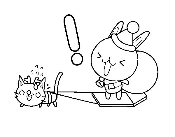 Dibujo de Santa conejo para Colorear - Dibujos.net