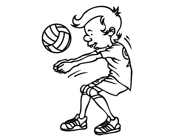 Imagenes del voleibol para dibujar faciles
