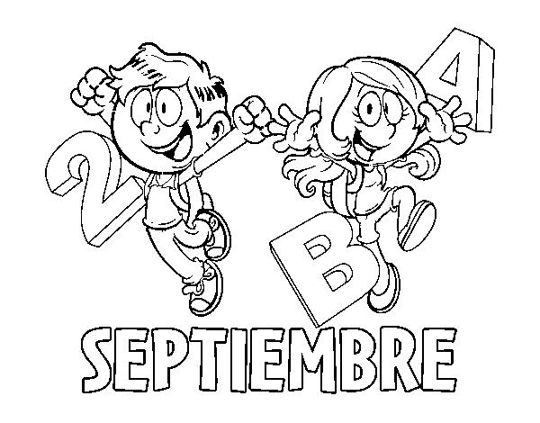 Dibujo de Septiembre para Colorear - Dibujos.net