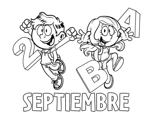 Dibujo De Septiembre Para Colorear Dibujosnet