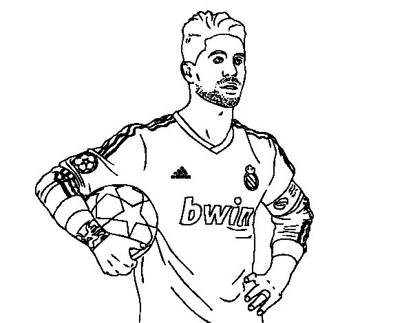 Dibujo De Sergio Ramos Del Real Madrid Para Colorear