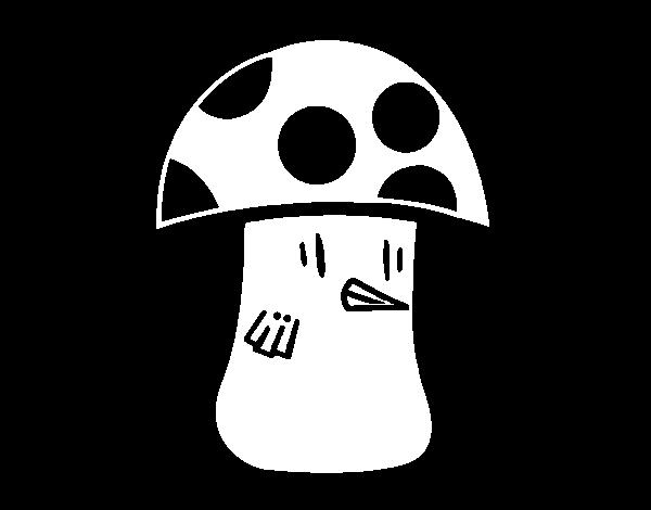 Dibujo de Seta voladora para Colorear - Dibujos.net