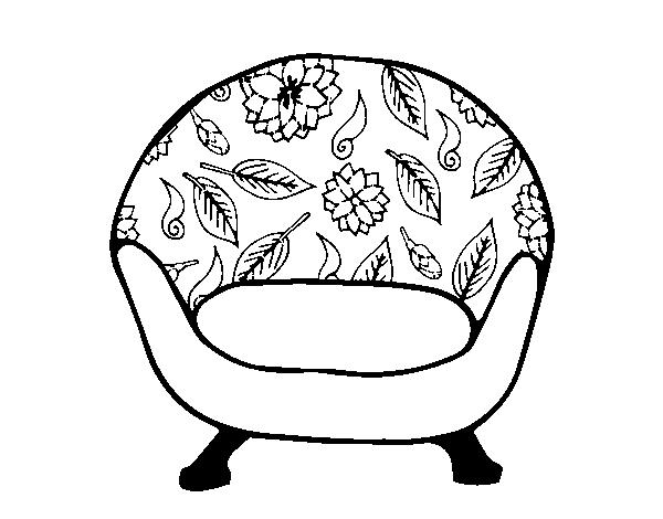 Dibujo De Sillón Vintage Para Colorear Dibujosnet