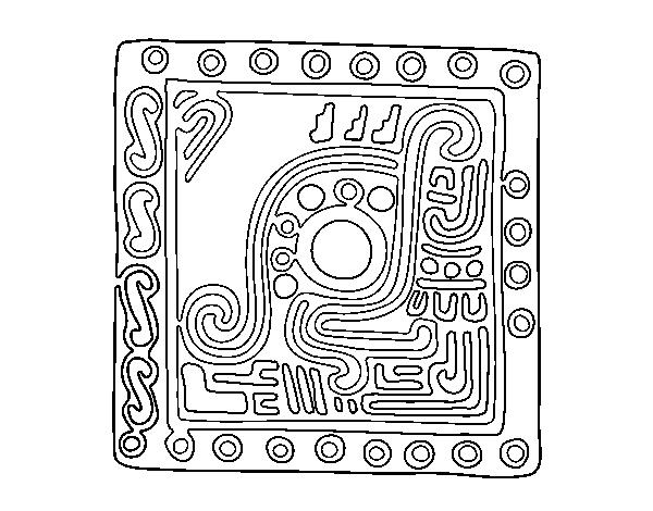 Dibujo de Símbolo maya para Colorear - Dibujos.net