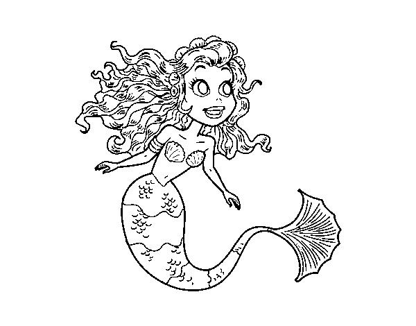 Dibujos De Sirenas Para Colorear Pintar E Imprimir: Dibujo De Sirena Manga Para Colorear