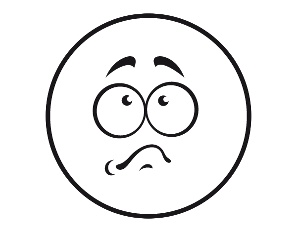 Dibujo de Smiley avergonzado para Colorear - Dibujos.net