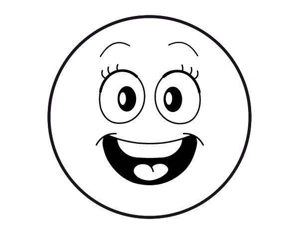 Dibujo De Smiley Feliz Para Colorear Dibujosnet