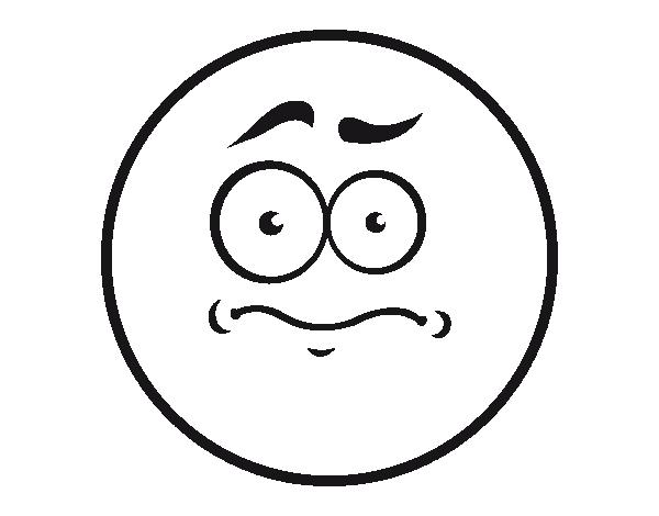 Dibujo de Smiley mal presentimiento para Colorear - Dibujos.net