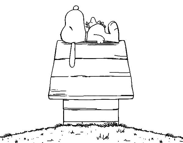 Dibujo de Snoopy durmiendo para Colorear - Dibujos.net