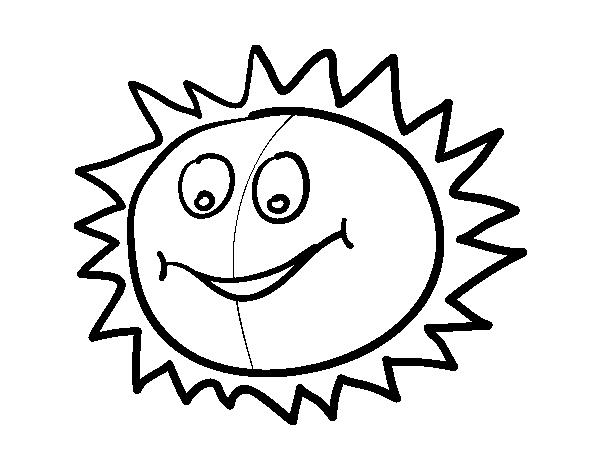Dibujos Del Sol Para Colorear E Imprimir: Dibujo De Sol Feliz Para Colorear