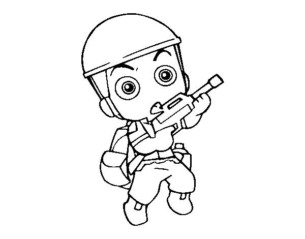 Dibujo De Soldado Raso Para Colorear Dibujosnet
