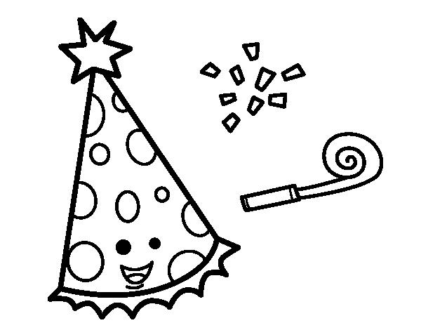Dibujo de Sombrero de fiesta para Colorear - Dibujos.net