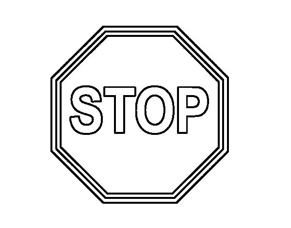 Dibujo de Stop para Colorear - Dibujos.net