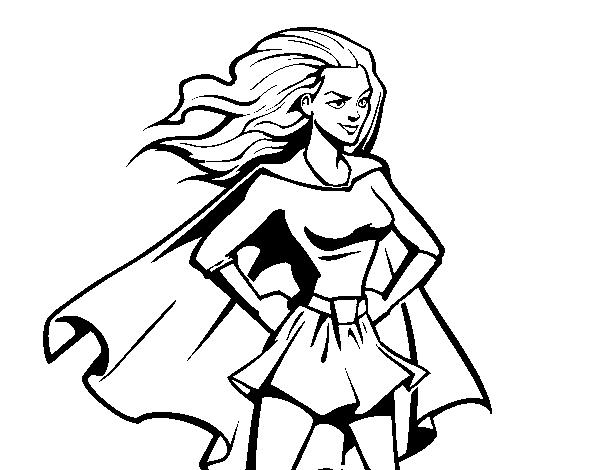 Dibujo de Super chica para Colorear - Dibujos.net
