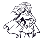 Dibujo De Supergirl Para Colorear Dibujosnet