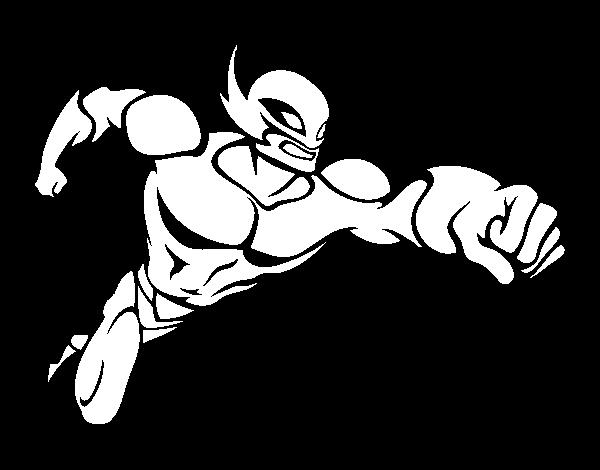 Dibujo de Superhéroe sin capa para Colorear - Dibujos.net