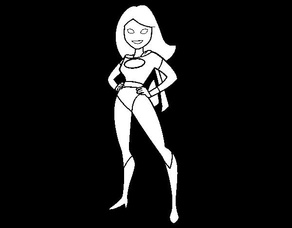 Dibujo de Superheroina para Colorear - Dibujos.net