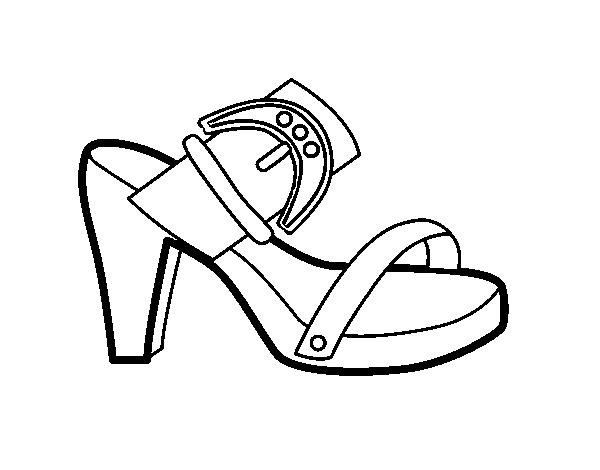 Dibujo de Tacón de verano para Colorear - Dibujos.net