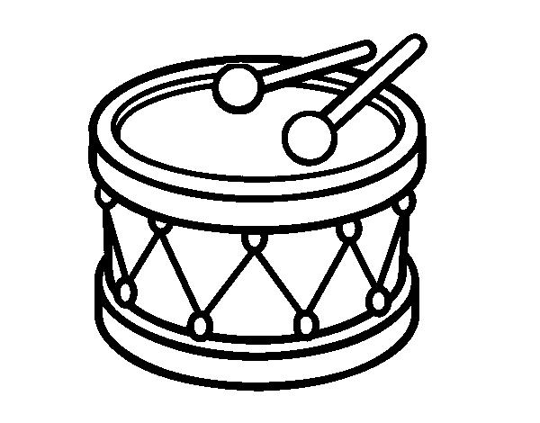Colorear Para Tambor Dibujo De Juguete Edw9h2iy