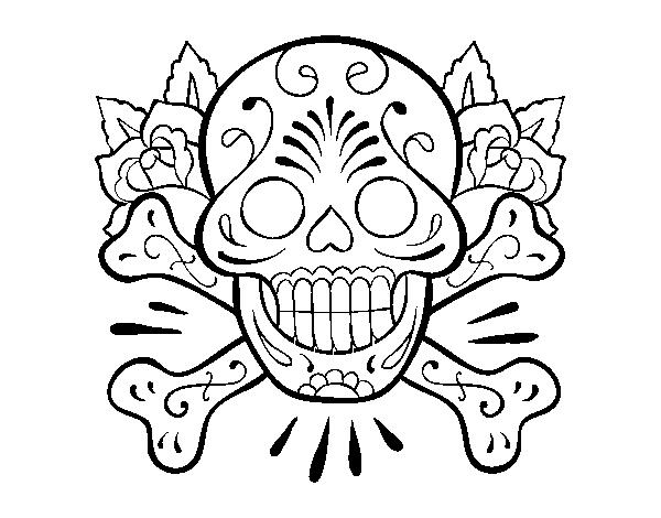 Dibujo De Tatuaje De Calavera Para Colorear Dibujosnet
