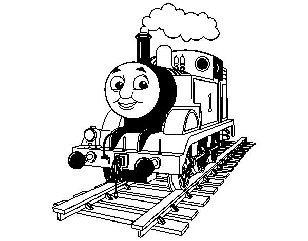 Dibujo de Thomas la locomotora para Colorear - Dibujos.net