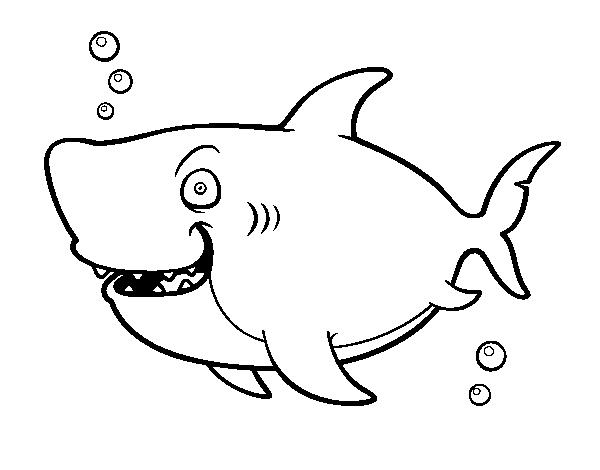 Dibujo de Tiburón ballena para Colorear - Dibujos.net