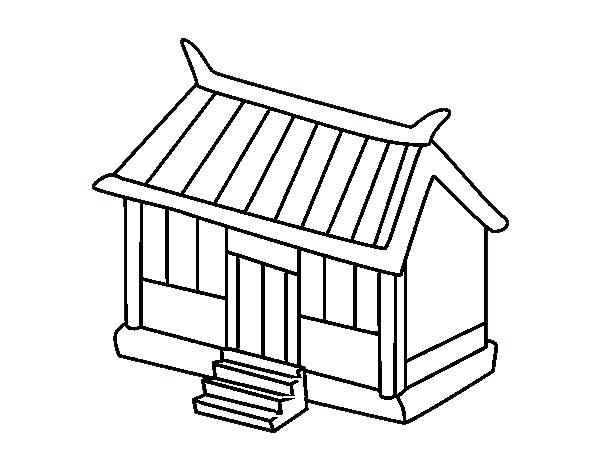 Dibujo de Tienda japonesa para Colorear - Dibujos.net