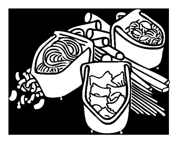 Dibujo de Tipos de pasta para Colorear - Dibujos.net