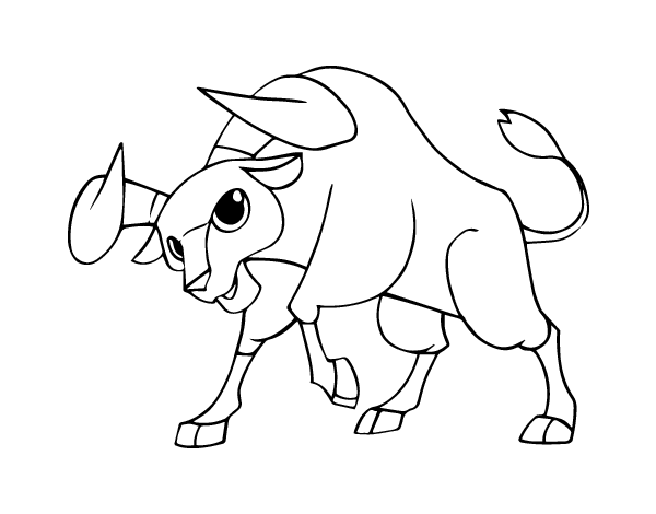 Dibujo De Toro Bravo Para Colorear Dibujosnet