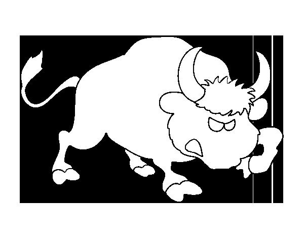 Dibujo de Toro salvaje para Colorear - Dibujos.net