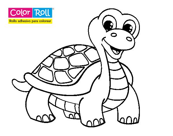 Dibujo de Tortuga Color Roll para Colorear - Dibujos.net