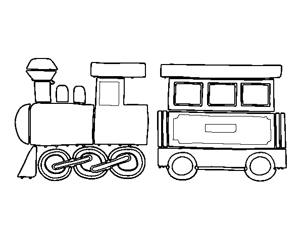 Dibujo de Tren alegre para Colorear - Dibujos.net