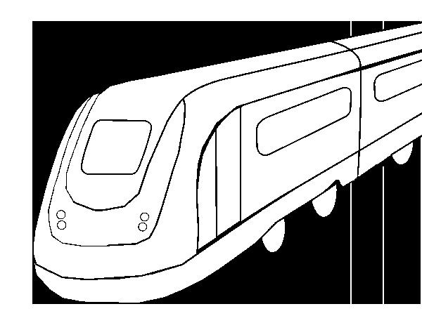 Dibujo De Tren De Alta Velocidad Para Colorear Dibujosnet